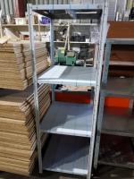 Стеллаж архивный для магазина металлический 700*600*1850 стойки крашеные, полки нерж, в пленке БУ