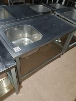Мойка-стол производственный 1200*600 мм БУ