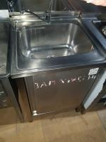 Ванна моечная с дверью 600*600 мм с бортом БУ