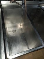 Ванна моечная 600*600 с бортом 2 секции БУ