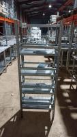 Стеллаж металлический для сушки посуды 600*300*1600 мм б/у