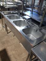 Ванна моечная 3х секц. 1600*600 мм БУ