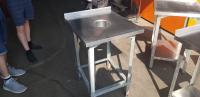 Стол производственный для сбора отходов 550*600 с бортом БУ