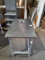 Стол производственный с отверстием для сбора отходов 1000х600 мм БУ