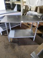 Стол производственный 1200х600мм, столешница из нержавеющей стали, каркас из пищевой оцинковки БУ