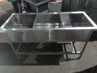 Ванна моечная 3х секционная 1500*620*850 мм, глуб. м/о 270 мм БУ